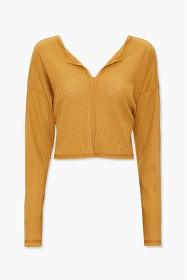 Forever 21 Waffle Knit Drop-Sleeve Top