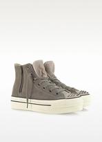 Converse Limited Edition Ct Platform Zip & Stud Suede High Top Sneaker