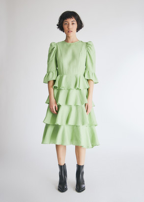 Batsheva Women's Spring Layer Dress in Mint, Size 0