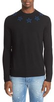 Givenchy Star Appliqué Long Sleeve Wool Pullover