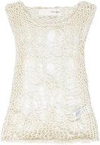 Isabel Benenato spiderweb top - women - Cotton - 40