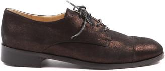 Peponita - Isleworth Metallic Bronze Lace Up Shoe - EU36 (UK3)