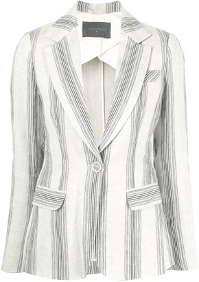 Lorena Antoniazzi Vertical-Striped Blazer