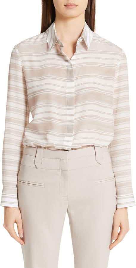 ca5ed005984913 Striped Silk Blouse - ShopStyle