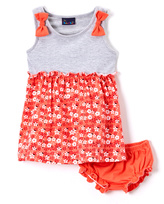 Sweet & Soft Red & Gray Tank Dress & Diaper Cover - Infant & Toddler