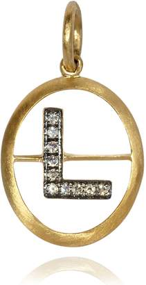 Annoushka Yellow Gold and Diamond Initial L Pendant