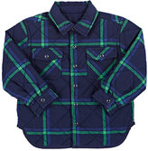 Stella McCartney Plaid Quilted Reversible Shirt-BLUE