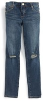 Tractr Distressed Skinny Jeans (Big Girls)