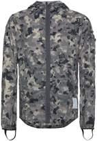 Satisfy packable camouflage windbreaker