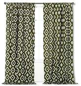 "Threshold Farrah Southwest Olive Green Window Panel (54"" x 84"") [Includes 1 Panel]"