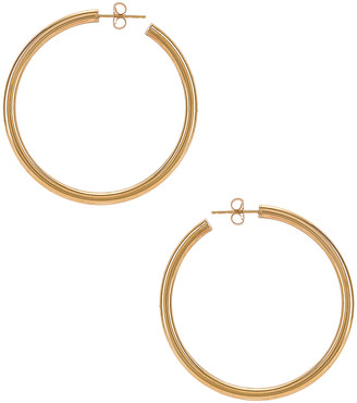 Loren Stewart Natasha Hoop Earrings in Yellow Gold | FWRD