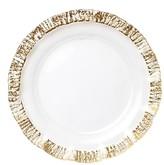 Vietri Rufolo Glass Gold Charger