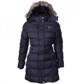 Thumbnail for your product : Brave Soul Womens Long Fur Trimmed Hooded Padded Puffer Parka Winter Jacket Coat UK 8 /US 6/ AUS 10/ EU 36/ X Small Black