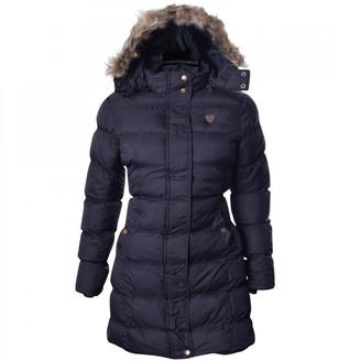 Brave Soul Womens Kylie Long Padded Jacket - White/Black - 12 UK