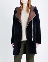 Sandro Bala reversible shearling coat