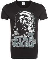 Logoshirt Darth Vader Print Tshirt Black