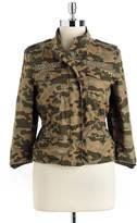 Jolt Studded Cotton Camouflage Jacket