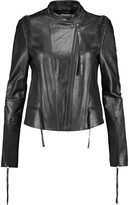 Dion Lee Braided Leather Biker Jacket