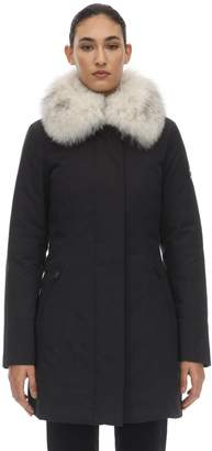 Peuterey COTTON BLEND DOWN JACKET W/ FUR