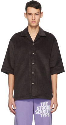 Martin Asbjorn Grey Corduroy Dickie Short Sleeve Shirt