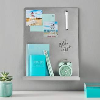 Pottery Barn Teen Magnetic Dry Erase Board With Ledge, Silver