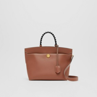 Burberry Small Leather Society Top Handle Bag