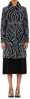 Kolor Women's Zebra-Striped Wool-Blend Coat-GREY