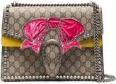 Gucci Brown Dionysus medium shoulder bag with bow