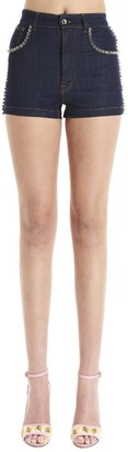 Dolce & Gabbana Crystal Embellished Denim Shorts