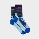 Paul Smith Women's Navy 'Shoe Stripe' Socks