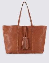Marks and Spencer Leather Tassel Shopper Bag