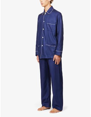 Derek Rose Lombard cotton pyjama set