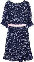 Polka-dot print georgette dress