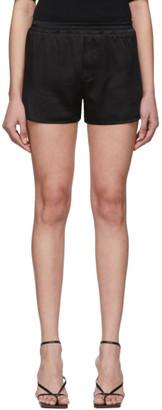 Haider Ackermann Black Silk Shorts