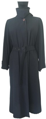 Giorgio Armani Blue Wool Trench Coat for Women Vintage