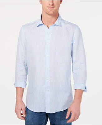 Tasso Elba Men Long-Sleeve Linen Shirt