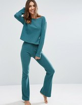 Asos LOUNGE Ribbed Skinny Flare