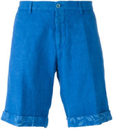 Etro turn-up hem chino shorts - men - Linen/Flax - 48