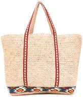 Vanessa Bruno knit-trimmed tote - women - Straw - One Size