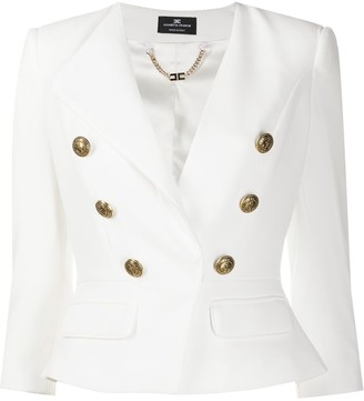 Elisabetta Franchi Double Breasted Jacket