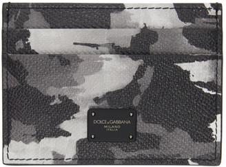 Dolce & Gabbana Grey Camo Card Holder
