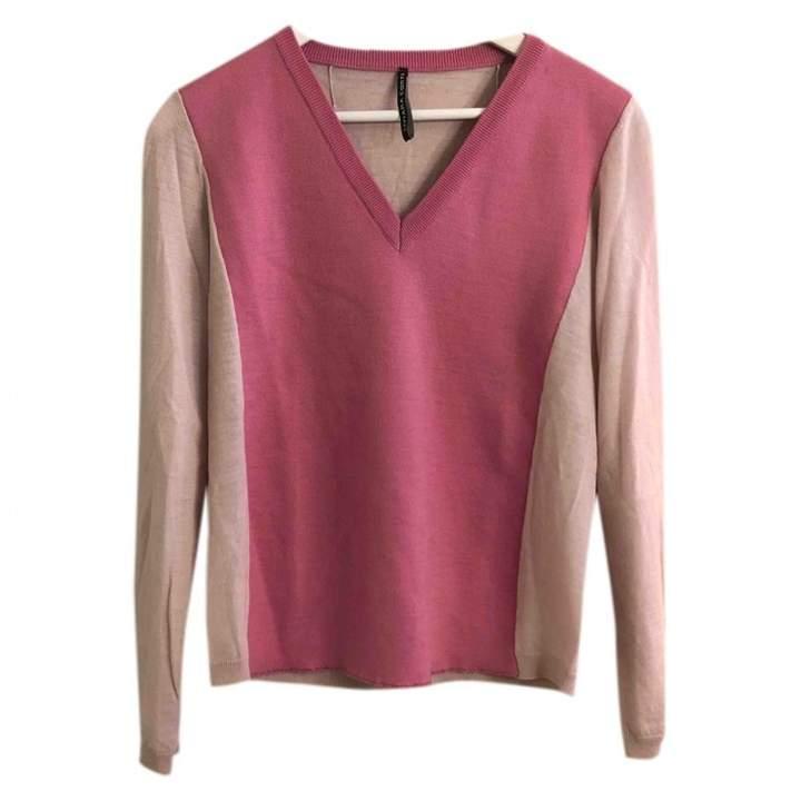 Liviana Conti Pink Wool Top for Women