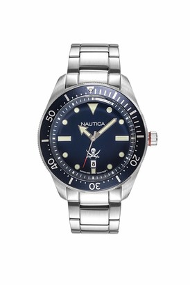 Nautica Men's Hillcrest Japanese-Quartz Watch with Stainless-Steel Strap