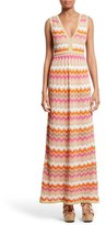 M Missoni Women's Ombre Zigzag Knit Maxi Dress