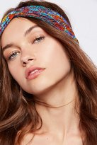 Free People Printed Mesh Turban
