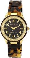 Anne Klein Women's 10/9956BMTO Swarovski Crytals Accented Gold-Tone Tortoise Resin Watch