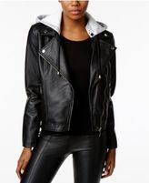 Joujou Jou Jou Faux-Leather Hooded Moto Jacket