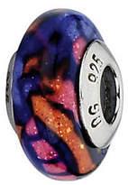 Murano Prerogatives Multicolored Glitter Italian Glass Bead