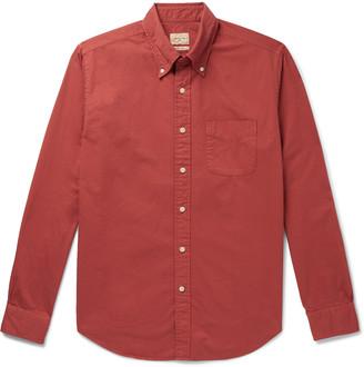 Bellerose Button-Down Collar Cotton-Twill Shirt