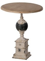 Ophelia Bittle Side Table - Distressed White, Natural - Small & Co.